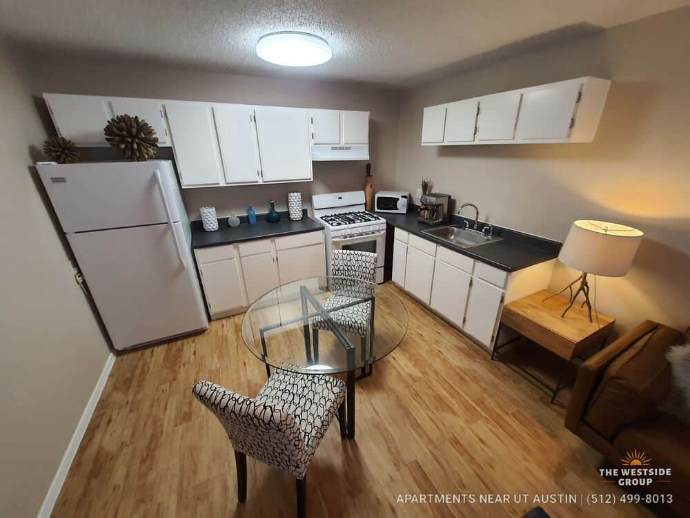 open dining kitchen apartment downtown