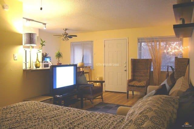 furnished modern studio living near downtown austin