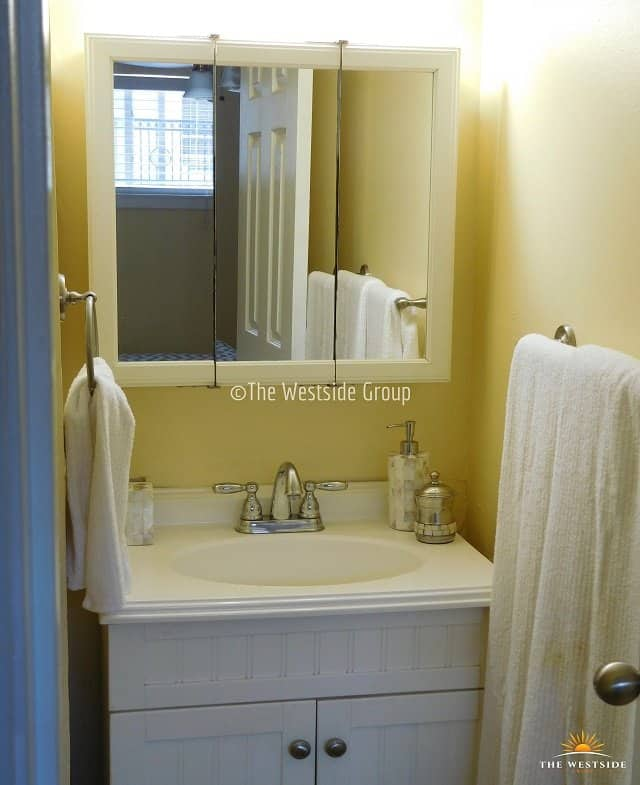 bathroom and vanity on studio units