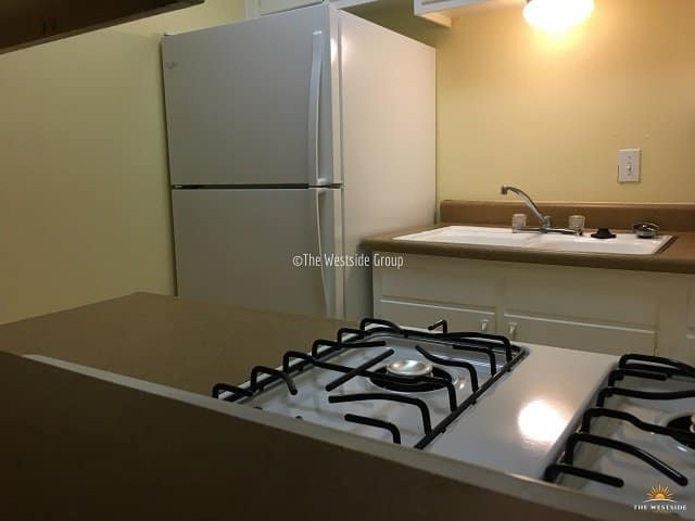 fully-equip kitchen appliance on small apartment in hyde park