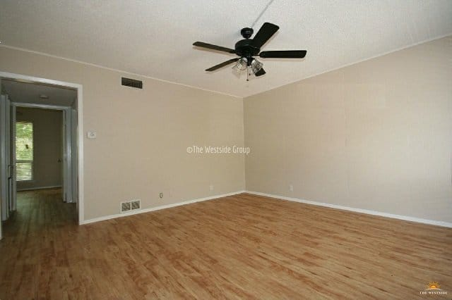 2 bedroom spacious hardwood floor plan