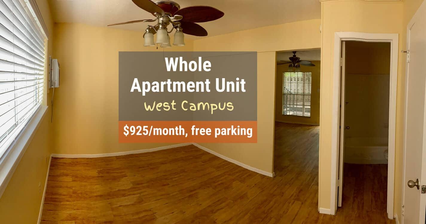 college apartment unit ut austin