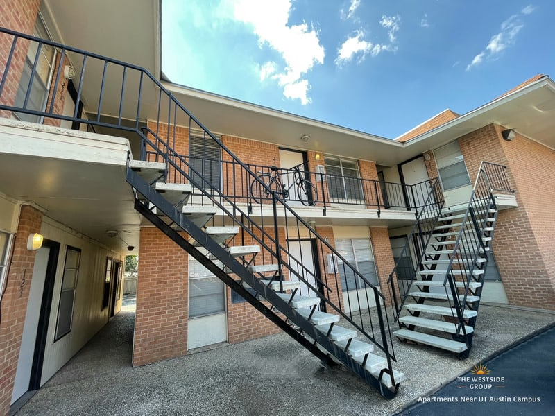 apartment units and stairs