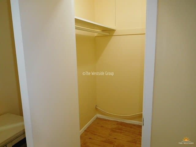 spacious walk-in closet in every room