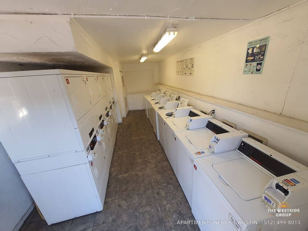 electronic coin laundry machines onsite