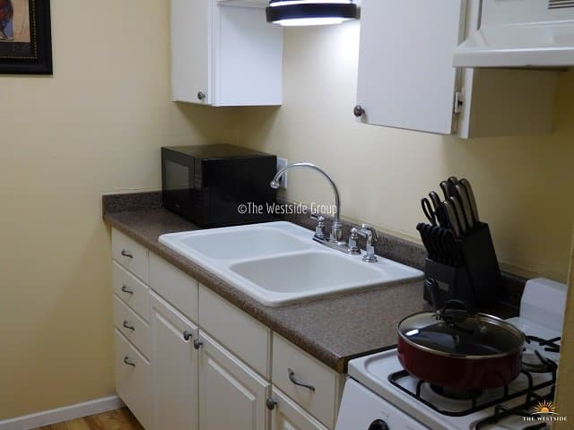 large sink with fully equip appliances