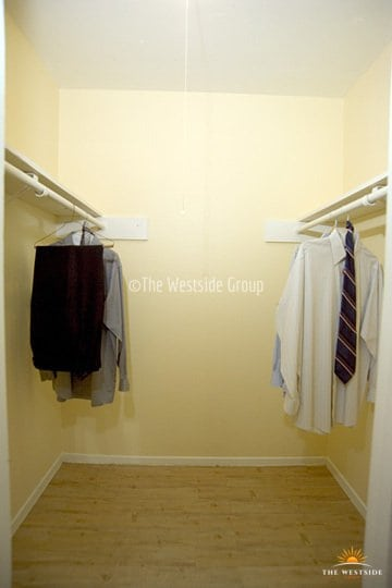 Wide closets on every apartment unit