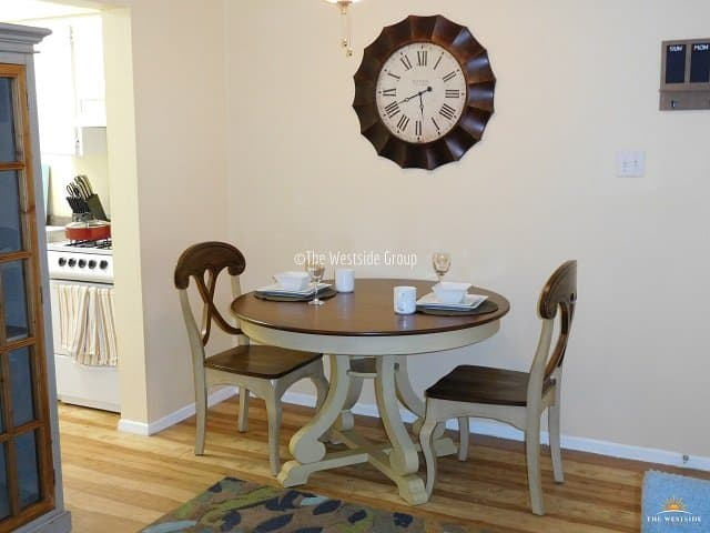 well laid out dining area space with kitchen access