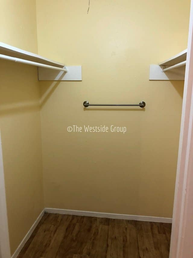 Spacious walkin closet for residents